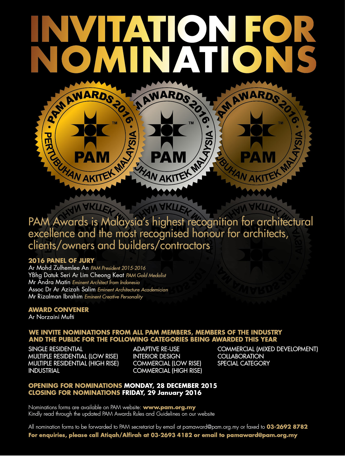 PAM Awards 2016