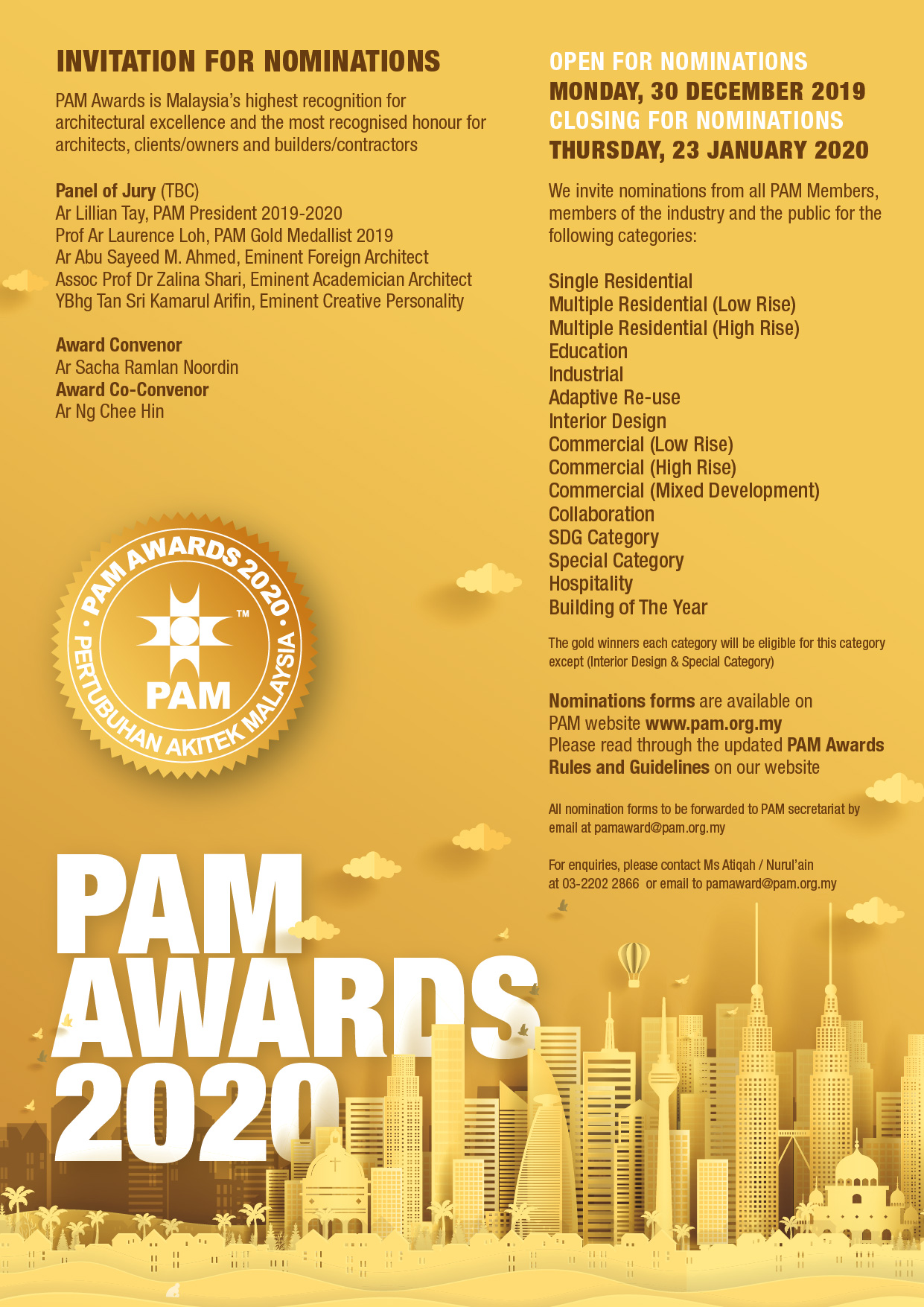 PAM awards 2020