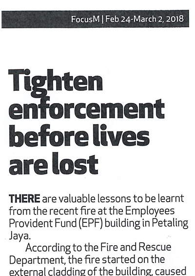 Tighten Enforcement before lives are lost
